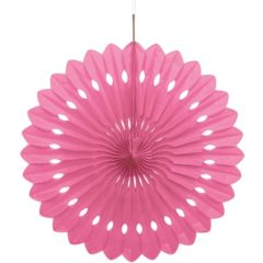 Pink Hanging Decorative Honeycomb Fan