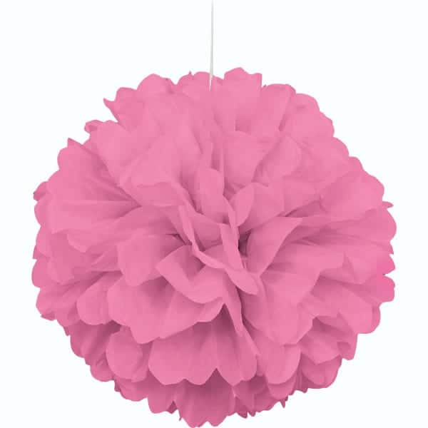 Pink Honeycomb Hanging Decoration Puff Ball 40cm Product Image