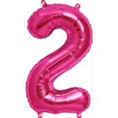 Pink Number '2' Supershape Foil Balloon – 34 Inches / 86 cm