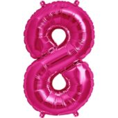 Pink Number '8' Supershape Foil Balloon – 34 Inches / 86cm