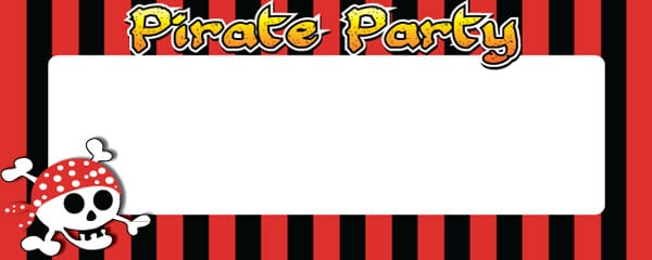 Pirate Party Small Personalised Banner - 4ft x 2ft