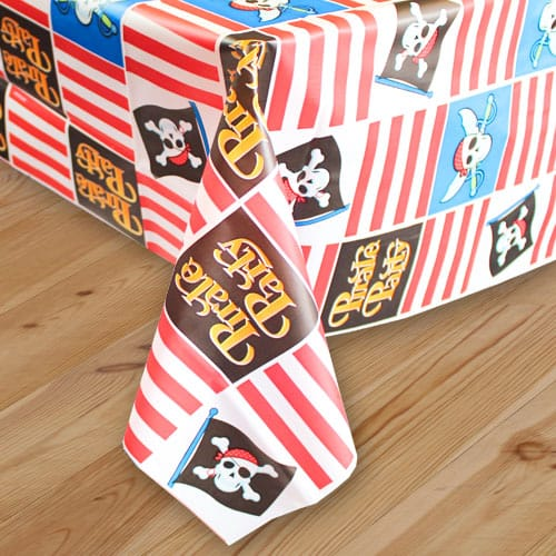 Pirate Party Plastic Tablecover 259cm x 137cm