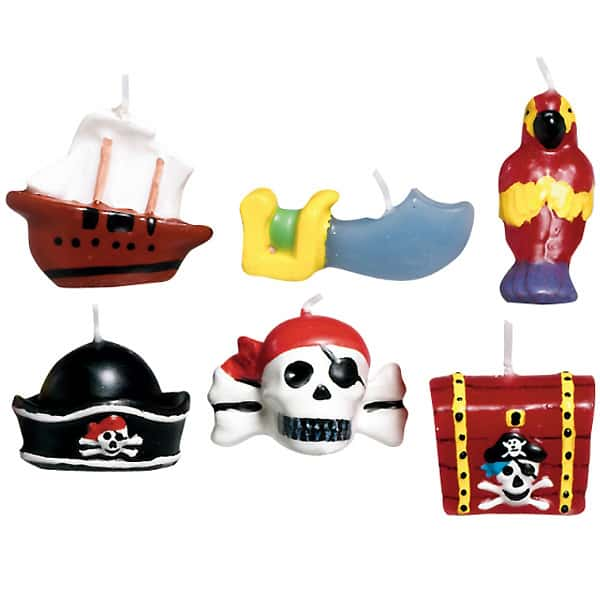 Pirate Treasure Mini Moulded Cake Candles – Pack of 6