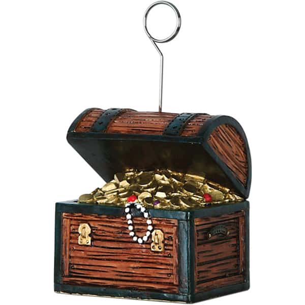 Pirates Treasure Chest Balloons/Photo Holder - 5 Inches / 13cm