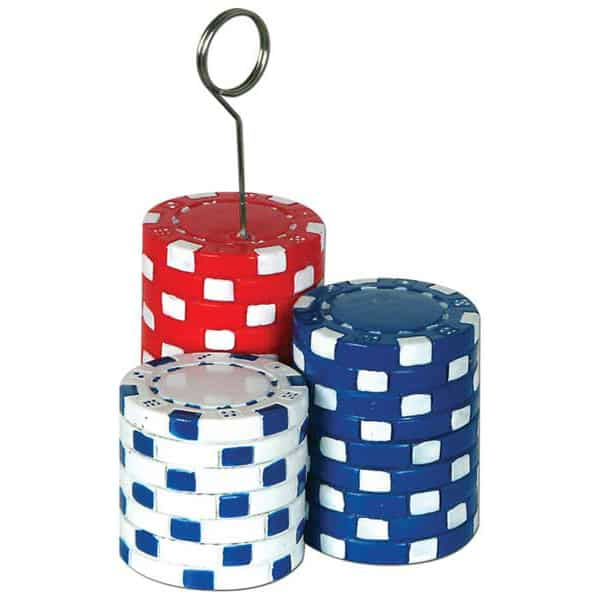 Poker Chips Balloons/Photo Holder - 4.5 Inches / 11cm Product Image