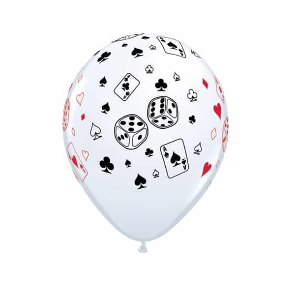Poker Theme Latex Qualatex Balloon - 11 Inches / 28cm