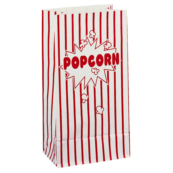 Popcorn Paper Party Bags - Pack of 10