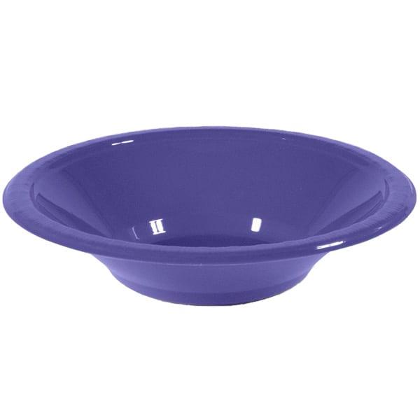 Purple Plastic Bowls 17cm - Pack of 20