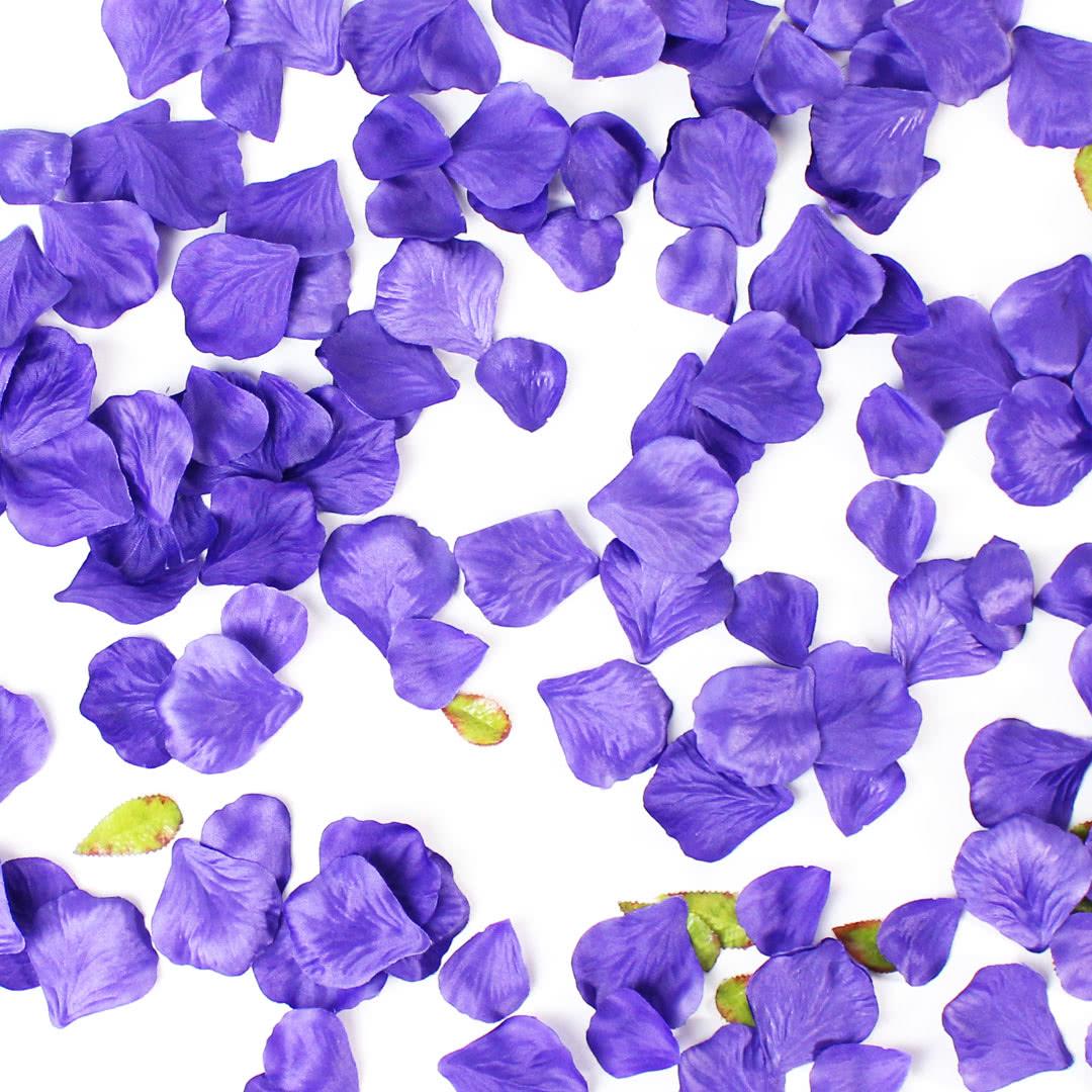 Purple Fabric Rose Petals