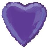 Purple Heart Shape Foil Balloon – 18 Inches / 46 cm