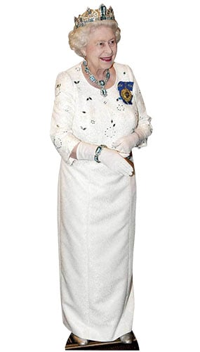 Queen Elizabeth II Handshake Lifesize Cardboard Cutout - 172cm Product Gallery Image