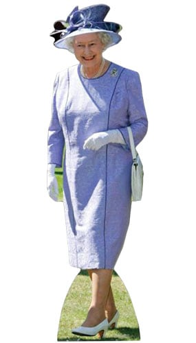 Queen Elizabeth Lilac Dress Lifesize Cardboard Cutout - 156cm Product Gallery Image