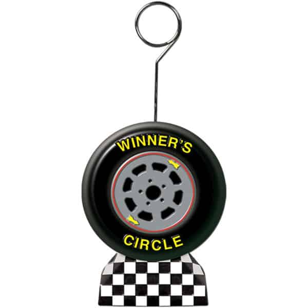 Racing Flag Balloons/Photo Holder - 5 Inches / 13cm