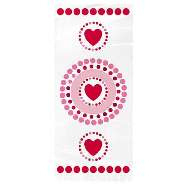 Radiant Hearts Gift Bags - Pack of 20