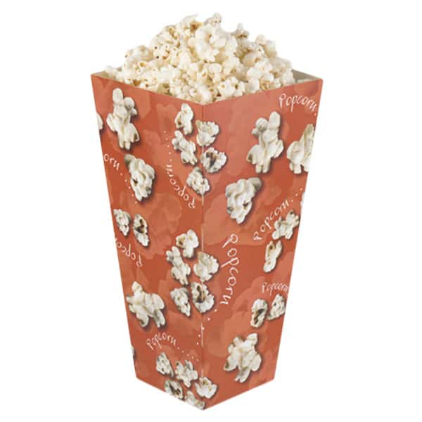 Recyclable Popcorn Box Medium Size Tapered Unlidded - 7 Inches / 18cm