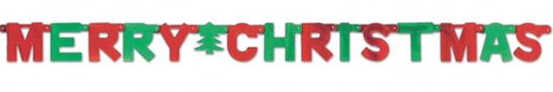 Red and Green Merry Christmas Letter Banner – 5 Ft / 1.5m