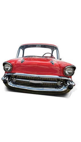 Red Cadillac Car Child Size Lifesize Cardboard Cutout - 105cm Product Gallery Image