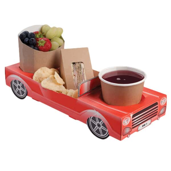 Red Car Combi Meal Box
