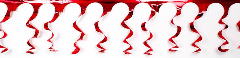 Red Foil Spiral Garland – 18 Ft x 15 Inches / 549 x 38cm