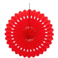 Red Hanging Decorative Honeycomb Fan