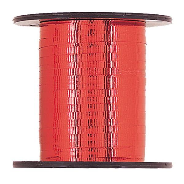 Red Metallic Curling Ribbon - 250 yd / 228.6m