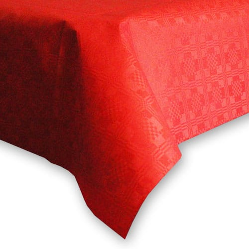 Red Paper Tablecover - 90cm x 90cm