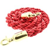 Red Braided Rope with Brass Hooks