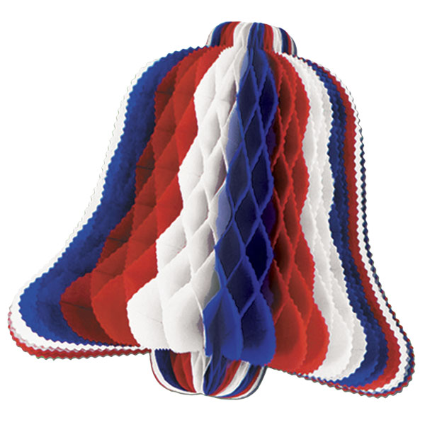 Red White Blue Honeycomb Bell - 20 Inches / 50cm