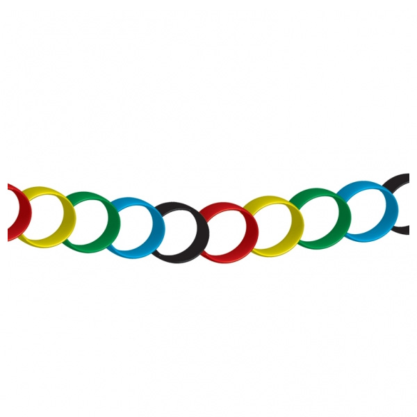 Red Yellow Green Blue Black Paper Chains - 20cm - Pack of 100