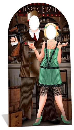 Roaring 20's Stand In Cardboard Cutout - 195cm Product Gallery Image