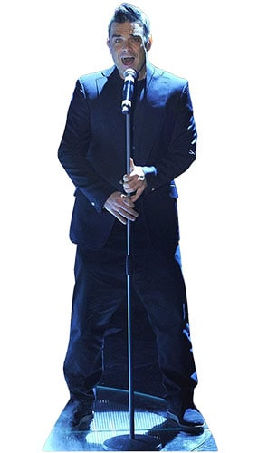 Robbie Williams Singing Lifesize Cardboard Cutout - 184cm Product Gallery Image