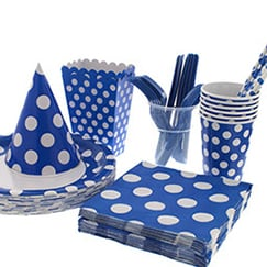 Royal Blue Dots Tableware