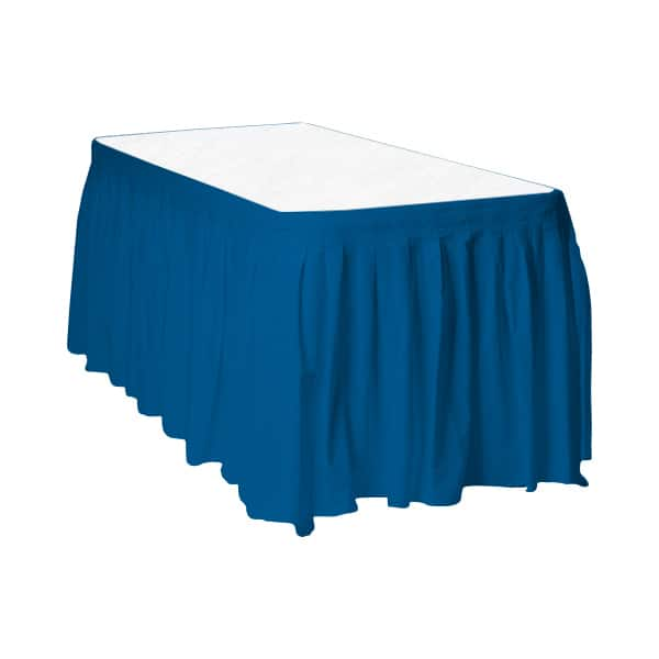 Royal Blue Plastic Table Skirt - 426cm x 74cm