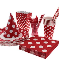 Ruby Red Dots Tableware