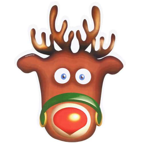 Rudolph Cardboard Face Mask Product Image