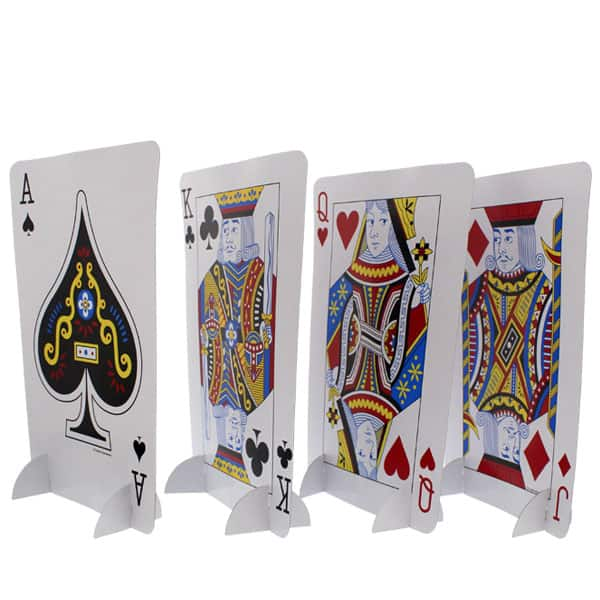 Card Night Standup Centrepieces - Set of 4 Product Image