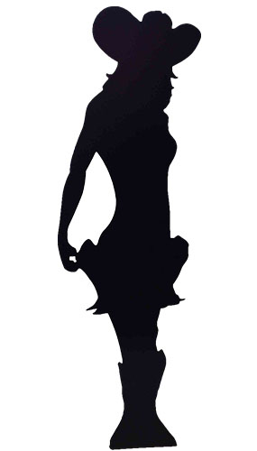 Silhouette Cowgirl Lifesize Cardboard Cutout - 190cm Product Gallery Image