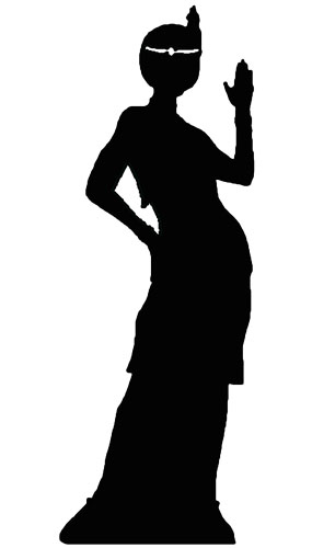Silhouette Flapper Girl Lifesize Cardboard Cutout - 170cm Product Image