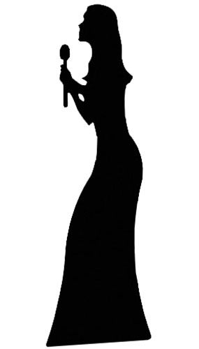 Silhouette Singer Lifesize Cardboard Cutout - 175cm