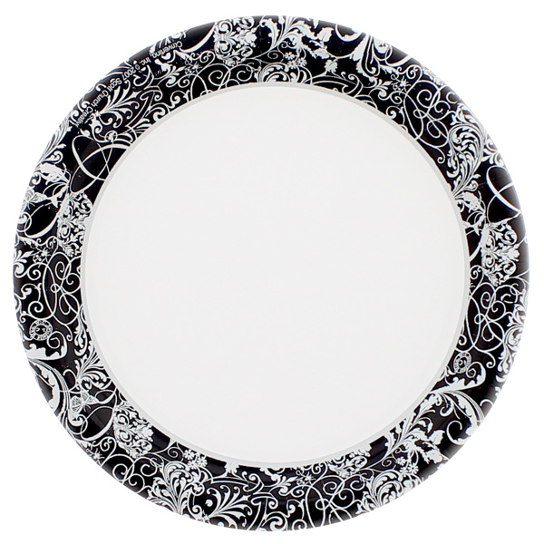 Silhouette Theme Paper Plate - 7 Inches / 18cm