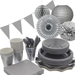 Silver plain tableware