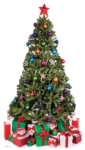 Small Christmas Tree Lifesize Cardboard Cutout - 88cm Product Gallery Image