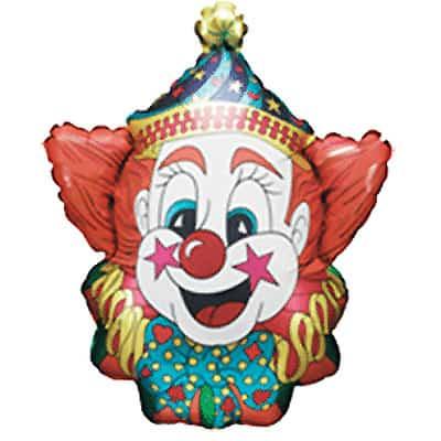 Smiley Joker Supershape Foil Helium Balloon 61cm / 24Inch