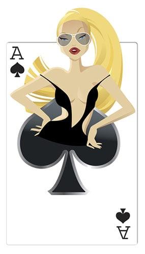 Spades Babe Casino Cardboard Cutout - 160cm
