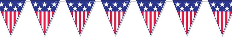 Spirit of America Pennant Flag Banner - 12 Ft / 366cm