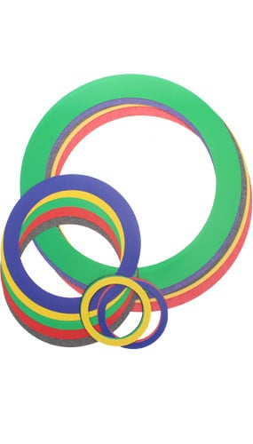 Sports Party Rings Decorative Cutouts - Range from 9 to 30cm - Pack of 15