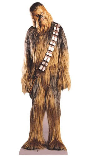 Star Wars Chewbacca Lifesize Cardboard Cutout - 198cm