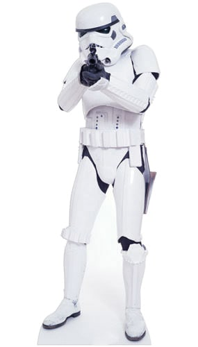 Star Wars Stormtrooper Lifesize Cardboard Cutout - 183cm Product Gallery Image
