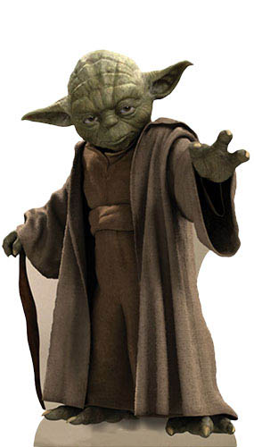 Star Wars Yoda Lifesize Cardboard Cutout - 76cm Product Gallery Image