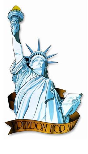 Statue of Liberty Decorative Cutout - 33 Inches / 83cm